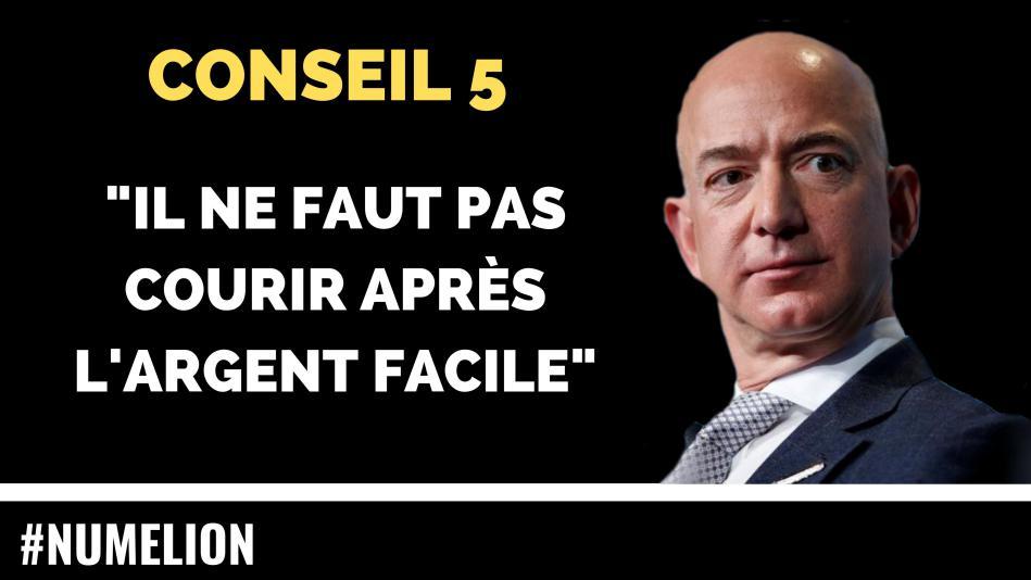 Conseil 5 de Jeff Bezos le patron d'Amazon