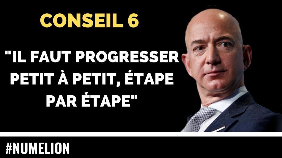 Conseil 6 du patron d'Amazon pour un business